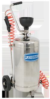 Mobile pressure sprayer in painted steel