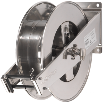 Automatic rewind, spring-driven hose reel 9517