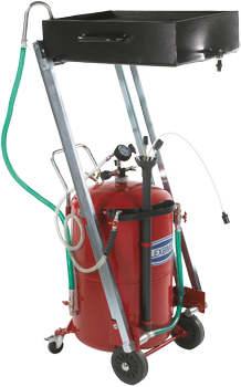 Wheeled used oil vacuum and recovery tank