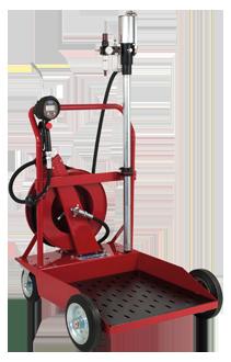 Wheeled pneumatic oil dispenser unit