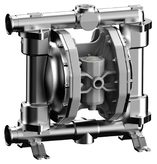 Air operated double diaphragm stainless steel pump